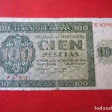Billetes españoles: BILLETE DE 100 PESETAS. 1936. ESTADO ESPAÑOL. BANCO DE ESPAÑA. BURGOS. Lote 128872467