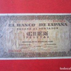 Billetes españoles: BILLETE DE 100 PESETAS. 1938. BURGOS. Lote 128872747