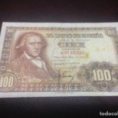 Billetes españoles: C.R. 100 PESETAS MADRID 1948. SERIE G. MANCHADO. Lote 128978508