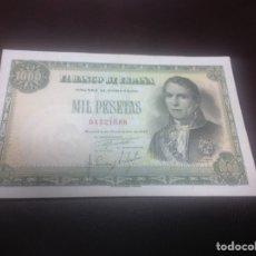 Billetes españoles: C.R. 1000 PESETAS MADRID 1949. SIN SERIE. MBC+. Lote 129089886