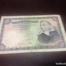 Billetes españoles: C.R. 500 PESETAS MADRID 1946. SIN SERIE. MBC. Lote 129091176