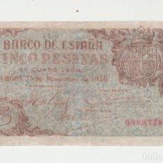Billetes españoles: 5 PESETAS- BURGOS- 21 DE NOVIEMBRE DE 1936. Lote 129244435