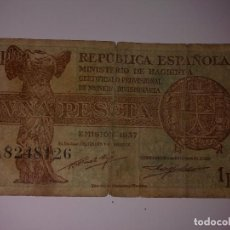 Billetes españoles: 1 PESETA 1937 SERIE A. Lote 129256007
