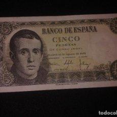 Billetes españoles: 5 PESTAS DEL 16 DE AGOSTO DE 1951. Lote 129256507
