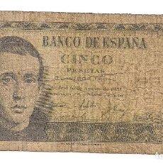Billets espagnols: ESPAÑA - 5 PESETAS 1951 - EMISIÓN 16 DE AGOSTO - SERIE 1A - 8738929. Lote 130006603