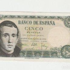 Billetes españoles: 5 PESETAS- 16 DE AGOSTO DE 1951-SC. Lote 130497222