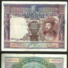 Billetes españoles: 1000 PESETAS 1925 - SIN SERIE 3,663,198 - CARLOS I - BILLETE CIRCULADO. Lote 130721789