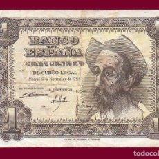 Billetes españoles: 1 PESETA DE 1951. ESPAÑA. BILLETE DE LA ÉPOCA DE FRANCO; DON QUIJOTE.. Lote 133338141