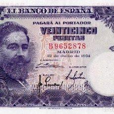 Billetes españoles: 1954 25 PESETAS SERIE B SC. Lote 131303723