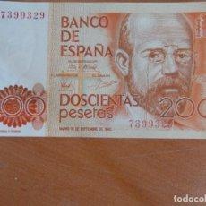 Billetes españoles: BILLETE DE 200 PTS. Lote 131908290
