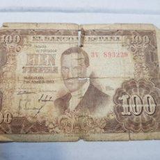 Billetes españoles: BILLETE ANTIGUO 100 PESETAS JULIO ROMERO. Lote 131922250