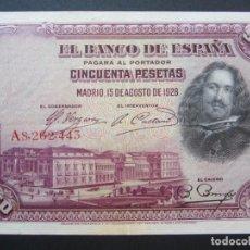 Billetes españoles: 50 PESETAS DE 1928 SERIE A-443. Lote 132119318