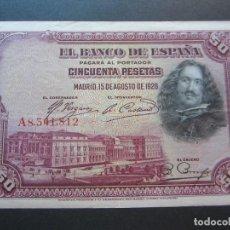Billetes españoles: 50 PESETAS DE 1928 SERIE A-812. Lote 132119830