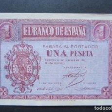 Billetes españoles: 1 PESETA DE 1937 SERIE F-353 SC. Lote 132183474