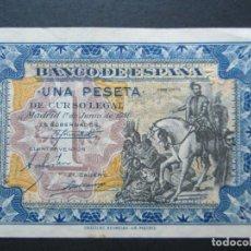 Billetes españoles: 1 PESETA DE 1940 DE JUNIO SERIE A-260 SC. Lote 132183738