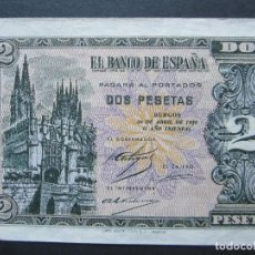 Billetes españoles: 2 PESETAS DE ABRIL DE 1938 SERIE A-187 SC. Lote 132183886