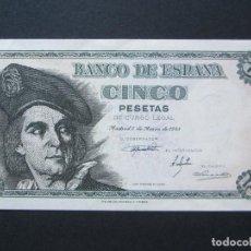 Billetes españoles: 5 PESETAS DE 1948 SERIE M-791 PLANCHA. Lote 132184414