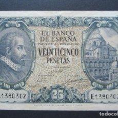Billetes españoles: 25 PESETAS DE 1940 SERIE E-302 MUY BIEN CONSERVADO. Lote 132184806