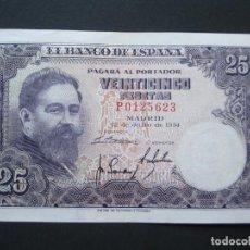 Billetes españoles: 25 PESETAS DE 1954 SERIE P-623 (OJO ESTA SERIE ES LA MAS DIFÍCIL) EXCELENTE BIEN CONSERVADO. Lote 132184866