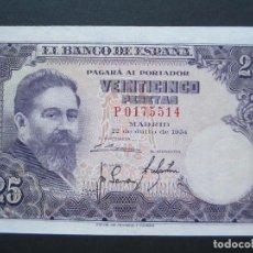 Billetes españoles: 25 PESETAS DE 1954 SERIE P-514 (OJO ESTA SERIE ES LA MAS DIFÍCIL) SC-. Lote 132184882