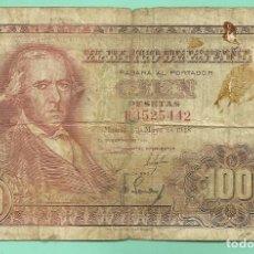 Billetes españoles: ESPAÑA: BILLETE 100 PESETAS 1948. FRANCISCO BAYEU SERIE H.. Lote 132232326