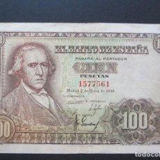 Billetes españoles: 100 PESETAS DE 1948 SIN SERIE-561 EBC-. Lote 132248422