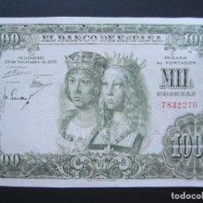 Billetes españoles: 1000 PESETAS DE 1957 SIN SERIE-270 EBC+ RARO. Lote 132324870