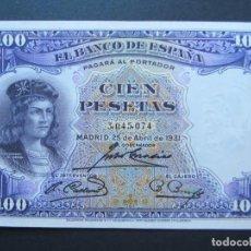 Billetes españoles: 100 PESETAS DE 1931 SIN SERIE-074 SC-. Lote 132339782