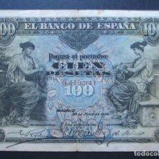 Billetes españoles: 100 PESETAS DE 1906 SIN SERIE-941 BIEN CONSERVADO. Lote 132341138