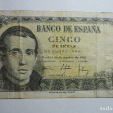 Billetes españoles: BILLETE BCO.ESPAÑA -5 PTS.. Lote 133064942