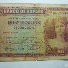 Billetes españoles: BILLETE BANCO ESPAÑA - 10 PTS. AÑO 1935. Lote 133065018