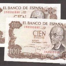 Billetes españoles: BILLETES ESPAÑOLES DE FRANCO . Lote 133238878
