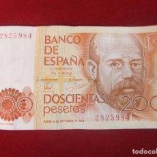 Billetes españoles: BILLETE DE 200 PESETAS DE 1980 - SIN LETRA DE SERIE. Lote 133335094