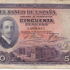 Billetes españoles: GG10- BILLETE ALFONSO XIII 50 PTAS. EMISIÓN 1927. Lote 133487266