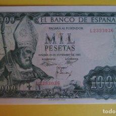 Billetes españoles: BILLETE 1000 PESETAS BANCO ESPAÑA 1965 SAN ISIDORO PLANCHA SIN CIRCULAR SERIE L LEÓN SC. Lote 133573118