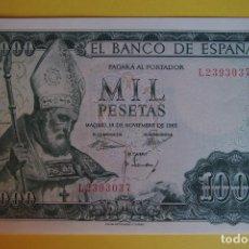 Billetes españoles: BILLETE 1000 PESETAS BANCO ESPAÑA 1965 SAN ISIDORO PLANCHA SIN CIRCULAR SERIE L LEÓN SC. Lote 133573378