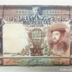 Billetes españoles: BILLETE DE 1000 PESETAS DE 1 DE JULIO DE 1925. MADRID. SIN LETRA DE SERIE. LOTE 0859. Lote 133659466