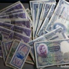 Billetes españoles: LOTE 70 BILLETES ESPAÑA 0'50 CENTIMOS A 100 PESETAS 1928 A 1938 *PAGO SOLO PAY-PAL** LEER !. Lote 133821025