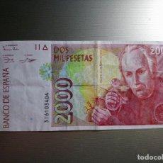 Billetes españoles: BILLETE ESPAÑA 2000 PESETAS 1992 *PAGO SOLO PAY-PAL** LEER !. Lote 133821678