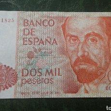 Billetes españoles: BILLETE 2000 PESETAS AÑO 1980.SIN SERIE.NUMERO BAJO.. Lote 134061726