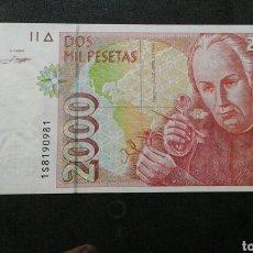 Billetes españoles: BILLETE 2000 PESETAS AÑO 1992.1S.. Lote 134062918