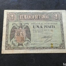 Billetes españoles: BILLETE 1 PESETA AÑO 1938.. Lote 134064423