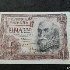 Billetes españoles: BILLETE 1 PESETA AÑO 1953.SIN SERIE. Lote 134065658