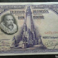 Billetes españoles: BILLETE 100 PESETAS AÑO 1928.SIN SERIE. Lote 134066379