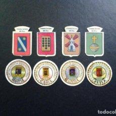 Billetes españoles: LOTE 4 EMBLEMAS AUXILIO SOCIAL - 4 CARTONES MONEDA (MAGNIFICO). Lote 134248770