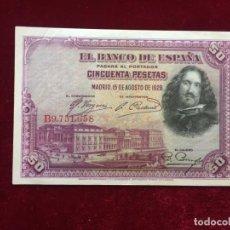 Billetes españoles: 50 PESETAS 1928 EBC/XF. Lote 134405082