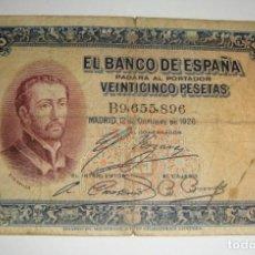 Billetes españoles: 25 PESETAS. 1926. SERIE B.. Lote 134418778