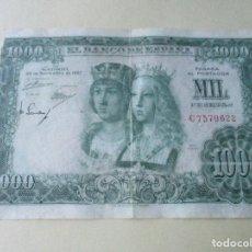 Billetes españoles: BILLETE DE 1000 PESETAS. 1957. ESTADO ESPAÑOL. MADRID. Lote 134636794