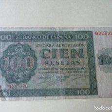 Billetes españoles: BILLETE DE 100 PESETAS. 1936. ESTADO ESPAÑOL. BANCO DE ESPAÑA. BURGOS. Lote 134640818