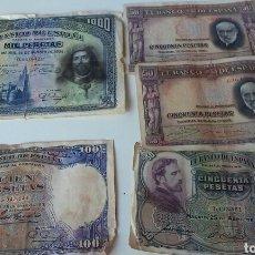 Billetes españoles: LOTE DE BILLETES PESETA ESPAÑOLES ANTIGUOS. Lote 136176424